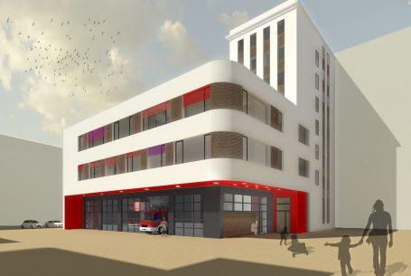 Neubau einer Lehrrettungswache + Kindertagesstätte